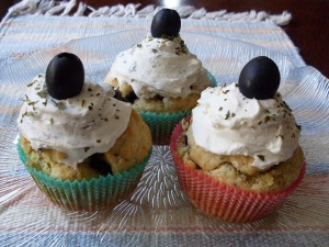 Tapenade cupcakes by mysweetcarrotcake